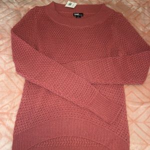 Tops - Mauve Long-Sleeve Nit Sweater